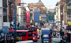 Traffic in London, England (Joseph Hollick) Tags: london england traffic sign