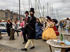 """people from history walk again, Quai Saint Etienne, Honfleur, Calvados, Normandy, France (grumpybaldprof) Tags: honfleur normandy normandie france calvados """"vieuxbassin"""" """"oldharbour"""" """"quaistecatherine"""" """"quaiquarantaine"""" quai """"quaistetienne"""" """"stecatherine"""" """"lalieutenance"""" quarantaine water boats sails ships harbour historic old ancient monument picturesque restaurants bars town port colour lights reflection architecture buildings mooring sailing stone collombage halftimbered yachts carousel merrygoround reflections """"waterreflections """"wetreflections""""funfair """"eglisesaitecatherine"""" yacht voillier """"iphone6backcamera415mmf22"""" """"iphone6"""""""