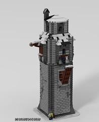 Fort Kallvog (_bidlopavidlo_) Tags: fort medieval castle wall bridge gate tower lego ldd digital designer povray fortress