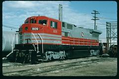 General Electric demonstrator 809 at Armstrong Yard, Kansas City, Kansas November 07 1988 (redfusee) Tags: gecx