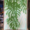2017.05.16 Late Light (WIP) (Julia L. Kay) Tags: shadow shadows silhouette juliakay julialkay julia kay artist artista artiste künstler art kunst peinture dessin arte woman female sanfrancisco san francisco daily everyday 365 botanical botany plant foliage splitleaf philodendron splitleafphilodendron sundances acrylic paint painting paper
