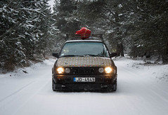 "Black E30 1986 ""Чудо"" winter christmas (Sandra_Step) Tags: black e30 bmw aerodynamic rial mesh r16 winter christmas new ear pre facelift cross pfl tire lights pandem rocket bunny rb drift car driftgirl pitbull latvia"