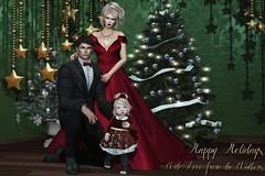 Happy Holidays from the Walkers (kirstentacular) Tags: catwa junbug magika maitreya yummy family holiday christmas formal