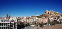 A Drone View of Alicante (Fotomondeo) Tags: alicante valencia españa spain drone aerialphotography djispark dji castillo castle castillodesantabarbara hotelmelia hoteltrypgransol casacarbonell beach playa playadepostiguet panorama