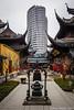 Shanghai 016 (Dubai Jeffrey) Tags: china buddhism jadebuddhatemple oldnew shanghai skyscraper