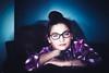 (Rebecca812) Tags: girl portrait canon contrast colorful plaid tween eyeglasses bun magenta teal people beauty