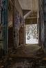 Hall 1 (kentkirjonen) Tags: window fönster abandoned övergivet övergiven lumix fz300 old gammal sweden sverige dalarna ue decay förfall tegelsten tegelstenar brick bricks hydroelectric vattenkraft stair stairs trapp trappa
