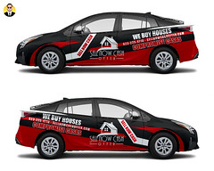 Prius 2016 Wrap (Fiverr/Kristofsche) Tags: realestate wrap vehicle toyota prius 2016 design vinyl decal sticker buy house