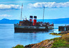 Scotland West Highlands the paddle steamer Waverley leaving Keppel pier island of Cumbrae 9 August 2017 by Anne MacKay (Anne MacKay images of interest & wonder) Tags: scotland west highlands paddle steamer waverley keppel pier island cumbrae sea coast clyde xs1 9 august 2017 picture by anne mackay