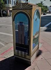 Downtown Long Beach (ArtFan70) Tags: downtownlongbeach danafox fox downtown longbeach lb california ca unitedstates usa america art paintedutilitybox utilitybox box cityscape