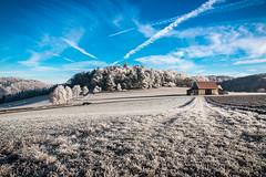 Schwäbische Alblandschaft mit Raureif (DerHarlekin) Tags: raureif schwäbische alb deutschland süddeutschland germany southern snow winter