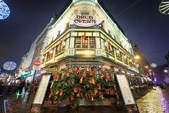 Drug Opera Restaurant, Brussels, Belgium (KSAG Photography) Tags: restaurant christmas festive lights belgium belgique brussels brussel bruxelles europe street streetphotography night nightphotography hdr nikon december 2017 city urban capitalarchitecture history heritage