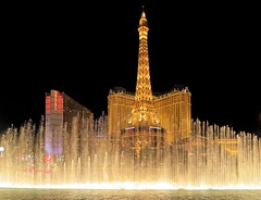 WBY8761-8 G1x2 Aqua veil for Eiffel Tower (wbyoungphotos) Tags: veil fountain musical musicalfountain show eiffel tower lasvegas water wbyoungphotos night lights signs nightshow