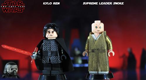 New Custom LEGO Minifigure Star Wars The last Jedi Kylo Ren