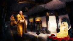 Buddha Spirit (Swissrock-II) Tags: challenge photoshop photoart photoshopart photomanipulation digitalart lightroom pixlr texture buddha inspiration spirit december 2017