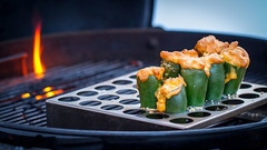 Smoked Mac & Cheese Poppers (Another Pint Please...) Tags: weber cheese grill jalapeno kettle poppers