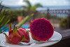 Fruit of the Dragon (OzzRod) Tags: pentax k1 hdpentaxdfa28105mmf3556 breakfast food fruit dragonfruit purple texture bokeh christmasisland dailyindecember2017