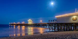 Moonlight over the pier