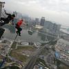 Thomas bungee running jump (tmspecial) Tags: adrenaline ajhackett bucketlist macau macautower thrill tmspecial thomasmueller bungee bungeejumping bungy tallest highest tower freefall fun