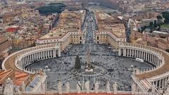 Dalla cupola! (Luc1659) Tags: piazza veduta vaticano basilica roma panorama inverno cristianità natale albero
