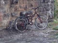 PEDAL NO MORE. (RUSTDREAMER.) Tags: rustdreamer bicycle rust dumped