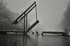 Going for it (rvroel) Tags: netherlands zuidholland zoetermeer winter snow bridge kayak kayaking