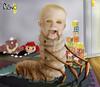 BEBE LARVA (platanobross) Tags: larva bebe infancia grotesco dark ilustración juguetes habitación didáctico gusano cienpies cubos tenazas mandíbula baba