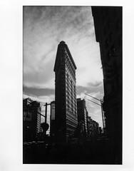 Flatiron Building - Instax Black & White Version; New York, New York (hogophotoNY) Tags: hogophoto manhattan newyorkcity instax fuji instant skyscraper usa us 210 fujiinstax210 wide fujiinstaxwide