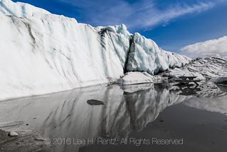 Meltwaters form a Pond on Matanuska Glacier