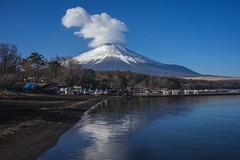 Mount Fuji... (Syahrel Azha Hashim) Tags: touristattraction sonyimages landmark mountfuji colorimage clearsky destination sonya7m2 nopeople simple ilce7m2 sony 2017 details beautiful travel lake snowtopmountain clouds colors yamanakakolake bluesky outdoors japan mountain