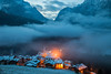Let It Snow (S l a w e k) Tags: dolomites italy italian alps mountains alpine landscape village dramatic atmosphere atmospheric mountainous dawn mist clouds snow cold frost frosty winter travel scenic picturesque