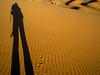 I wonder who left those footprints? (missfisher') Tags: sahara desert dunes morocco ergchebbi
