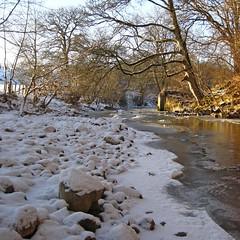 Happy New Year! (RoystonVasey) Tags: canon ixus 95 cumbria lake district ldnp river frozen ice