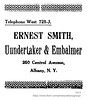 1913 ernest smith undertaker (albany group archive) Tags: albany ny history 1913 ernest smith undertaker embalmer central avenue early 1900s 250 old historical vintage picture photo photograph
