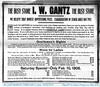 Ira Gantz Store Ad, DeLand, IL, 1906-02-06 (RLWisegarver) Tags: piatt county history monticello illinois usa il