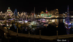 Victoria Harbour at Night (Alcona1) Tags: night victoriabc harbour water lights britishcolumbia longexposure christmas decorations boats