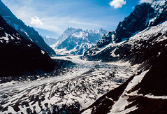 Mer de Glace: French Alps: 1993 (mharoldsewell) Tags: 1993 2018 8000i chamonix france frenchalps georgia kodachrome kodachrome64 maxxum merdeglace minolta snow glacier glaciers ice mharoldsewell mikesewell photos slides