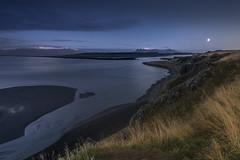 Magic night in Iceland. (Sizun Eye) Tags: night dusk twilight landscape vastness moon glow sea iceland sizuneye d750 nikon nikkor 1424mm