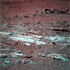 Unexpectedly Weird Color Image of Mars (sjrankin) Tags: 8january2018 edited nasa mars rocks sand opportunity endeavourcrater colorized rgb bands257
