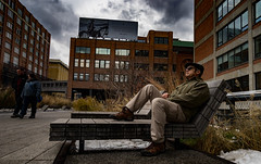 Old Guy High Line (GoodingGreen) Tags: high line park manhattan new york city architecture sky road tree building old guy