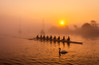 Sunrise with rowing team (Anthony White) Tags: christchurch england unitedkingdom gb sports riverstour scull togetherness motion oars orange