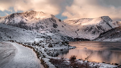 Dreaming of a white Christmas. explore#1 (21/12/17) (Einir Wyn Leigh) Tags: landscape christmas winter noel mountains valley love contrast rural rugged lake wales cymru nikon light ice snow clouds outside white