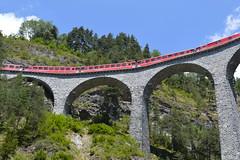Landwasser-Viadukt in Filisur (barbarasteinemann) Tags: viadukt landwasser swissalps swiss eisenbahn schweiz albulapass rhätische bahn filisur graubünden