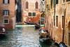 Bricks and Water. (ho_hokus) Tags: 2017 fujix20 fujifilmx20 italy veneto venezia venice canal gondola gondolier venedig waterway tourists