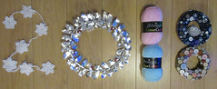 1st January 2018 (Scooby39) Tags: happynewyear hny 2018 1stjanuary2018 craft crafty buttons wool wreath holly snowflake snowflakegarland