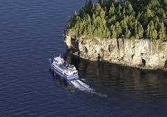 Great Blue Heron (blueheronco) Tags: aerial aerialview greatblueheron tourboat boat blueheroncruises halfwayrockpoint georgianbay brucepeninsula ontario canada niagaraescarpment rockyshoreline
