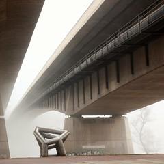 Fog & concrete (Fencejo) Tags: canon600dt3ikissx5 tamronspaf1750mmf28xrdiiild streetphotography river ebro zaragoza fog bridge