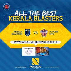Best wishes Kerala Blasters for the match against FC Pune City in the ISL- Indian Super League.  #KeralaBlasters #KBFC  #YellowTakesOver #KERPUN #LetsFootball  #India #Kerala #Kochi  #Architecture #Home #City #Elegance #Environment  #Beautiful #Exquisite (nucleusproperties) Tags: beautiful life kerpun kochi style kbfc kerala letsfootball lifestyle india luxury villa comfort yellowtakesover apartment keralablasters nature architecture interior design elegance environment exquisite view city atmosphere home