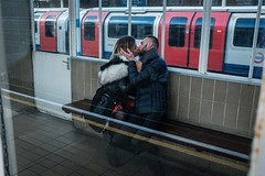 mating season (jrockar) Tags: voyeur observation matingseason loveisintgeair x fujix fujifilm fuji x100f westfromeast ordinarymadness madness ordinary idiot janrockar jrockar underground urban city beautiful instant decisive moment candid passionate passion station tube people randy horny french frenchkiss kissing kiss couple lovers love leytonstone london