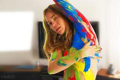 Nastya the Living brush on Girls-Mag (RickB500) Tags: portrait girl nastya nastyabook dasha paloma bodypaiting livingbrush fluxus happening nudeart colors